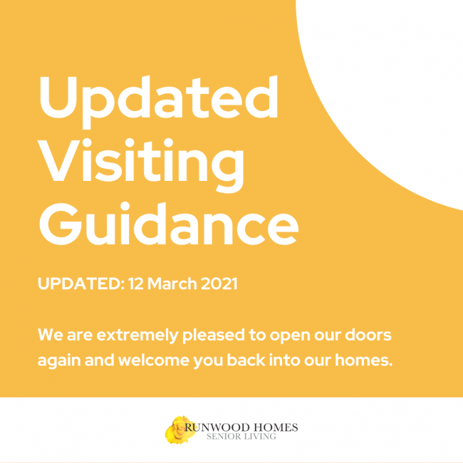 UPDATED VISITOR GUIDANCE (LAST UPDATED: 12 MARCH 2021) – PLEASE READ